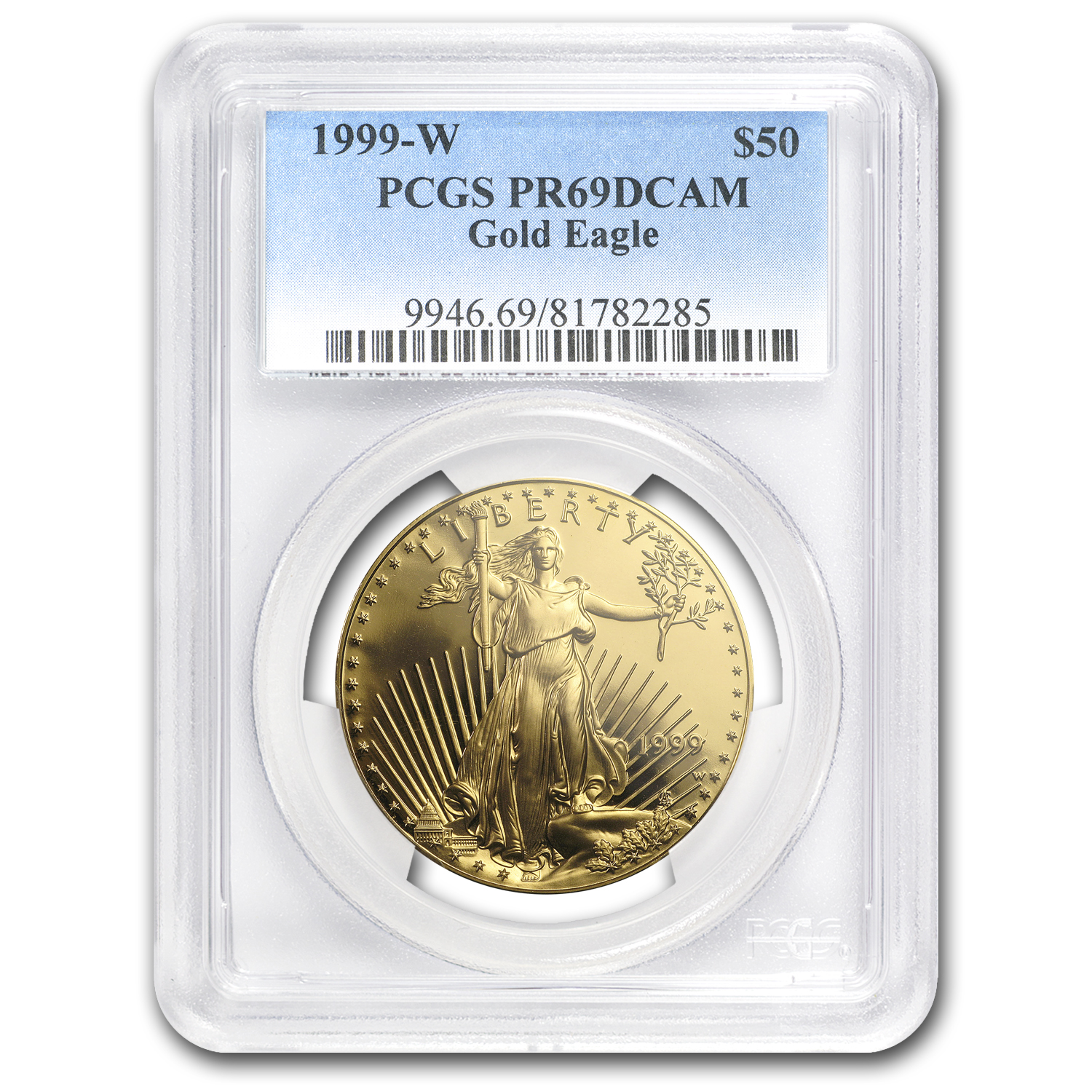 1999-W 1 oz Proof Gold American Eagle PR-69 PCGS