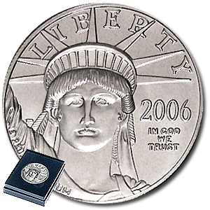 2006-W 1 oz Burnished Platinum American Eagle (w/Box & CoA)