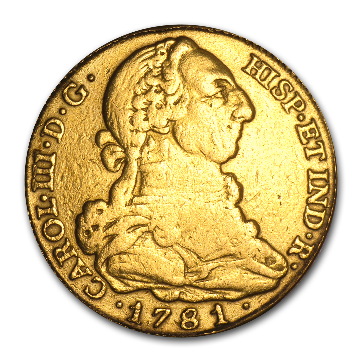 1781 Spain Gold 4 Escudos Charles III VF Details