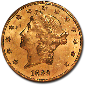 1889-S $20 Liberty Gold Double Eagle MS-61 NGC