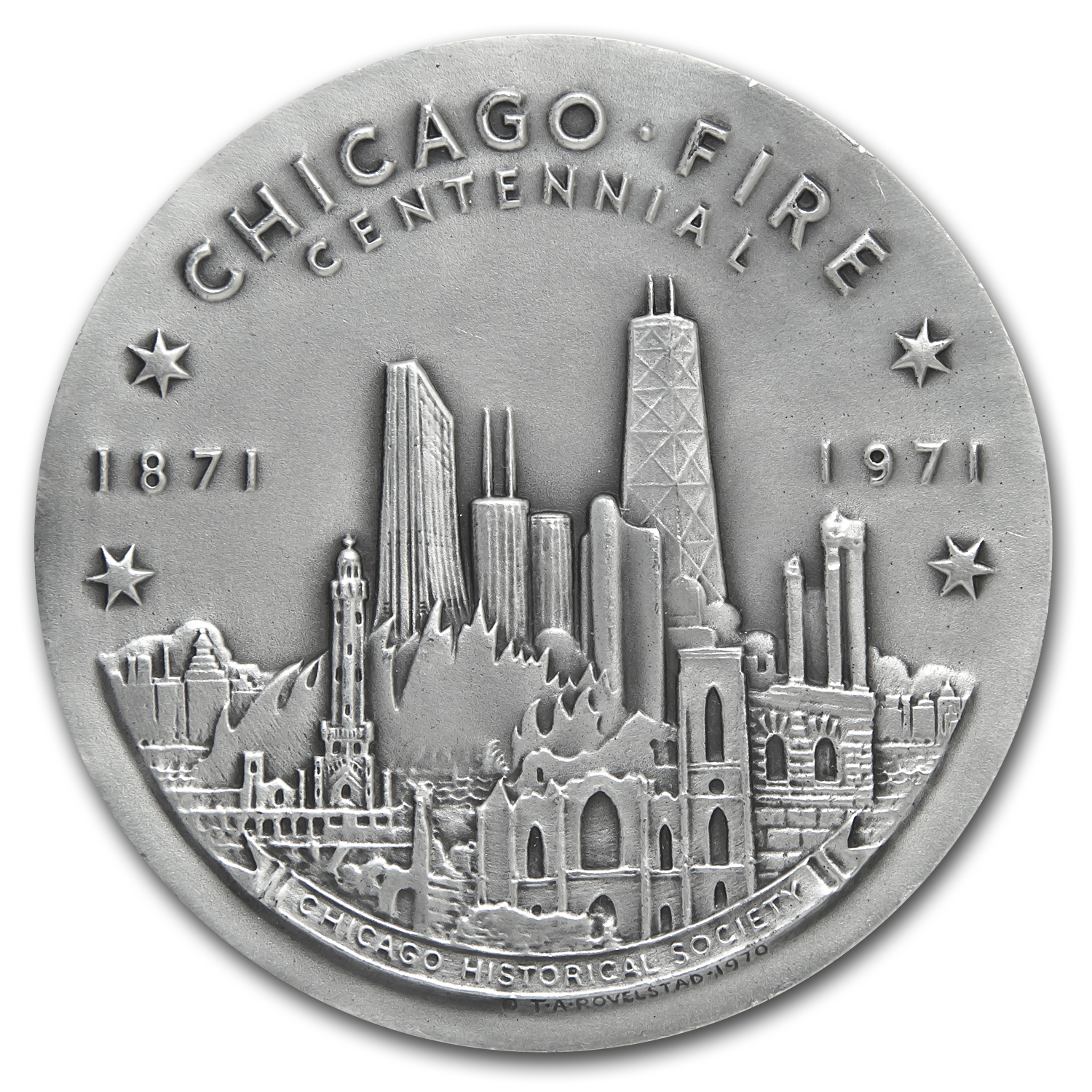 4.33 oz Silver Round - Chicago Fire Centennial