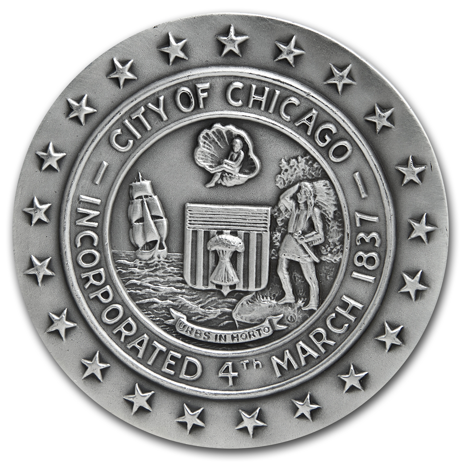 4.33 oz Silver Rounds - Chicago Fire Centennial