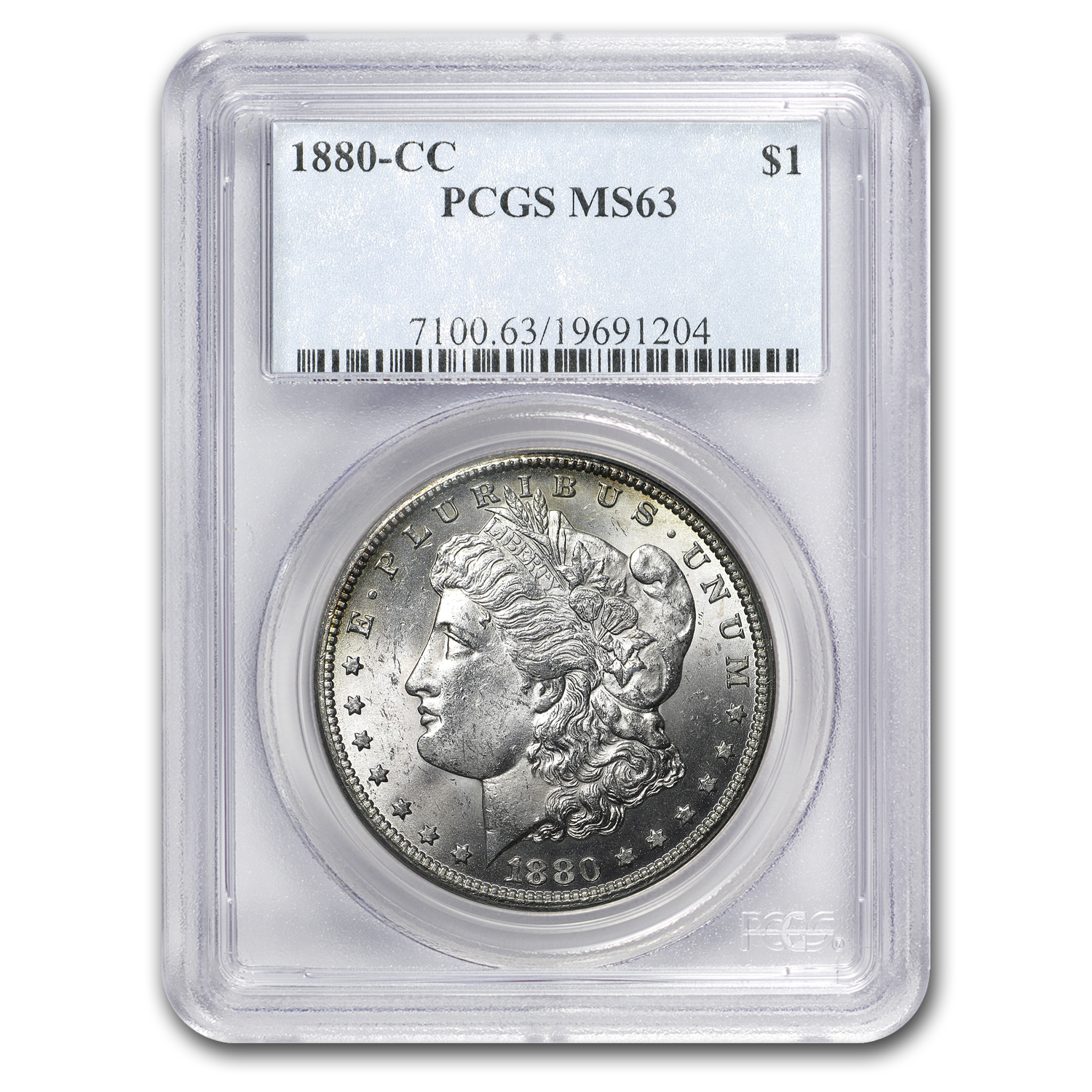 1880-CC Morgan Dollar MS-63 PCGS