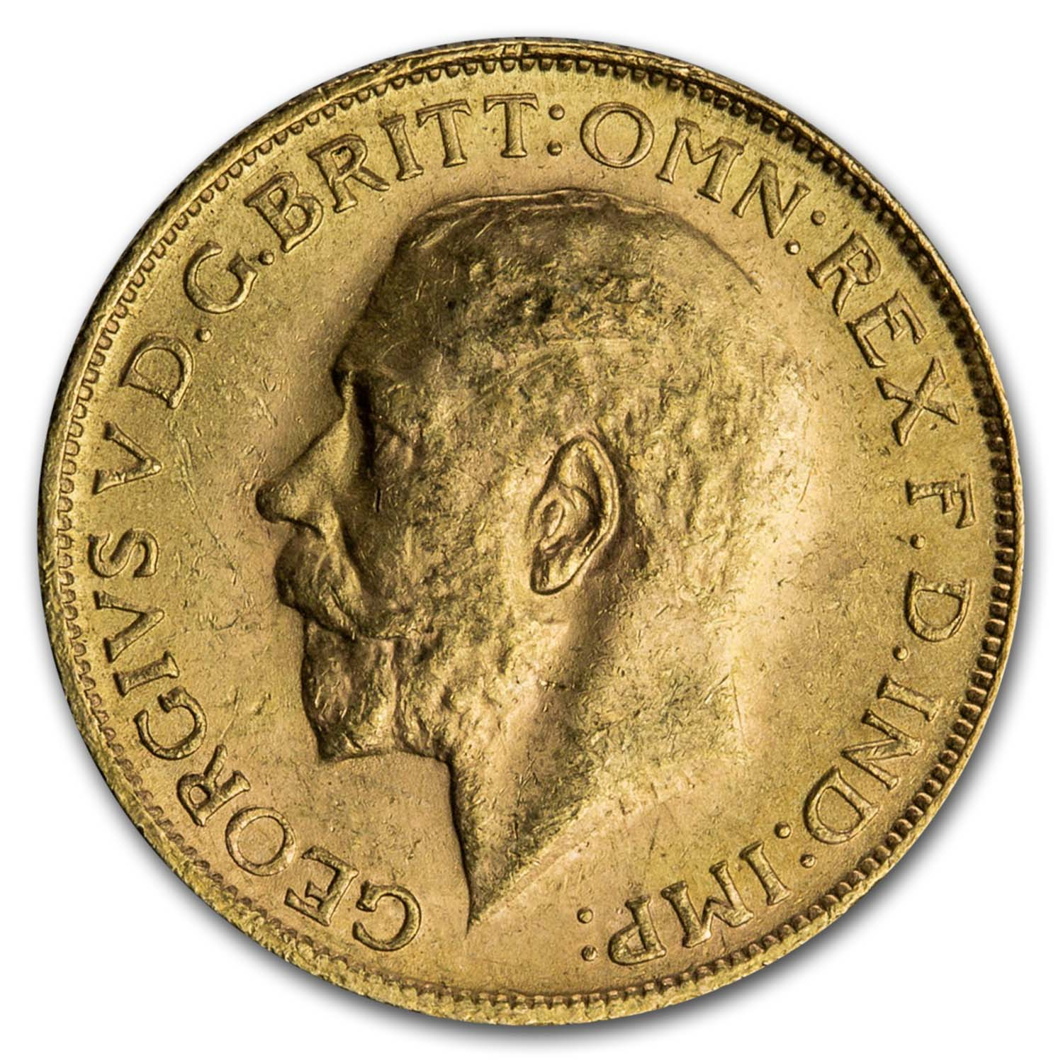 1925-1932 South Africa Gold Sovereign George V BU