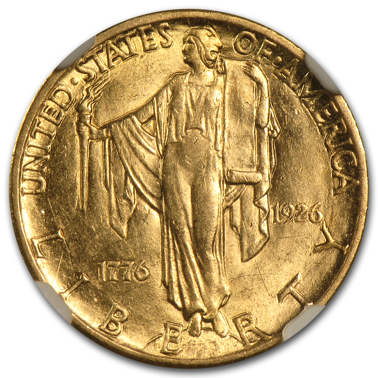 1926 Gold $2.50 America Sesquicentennial AU-55 NGC