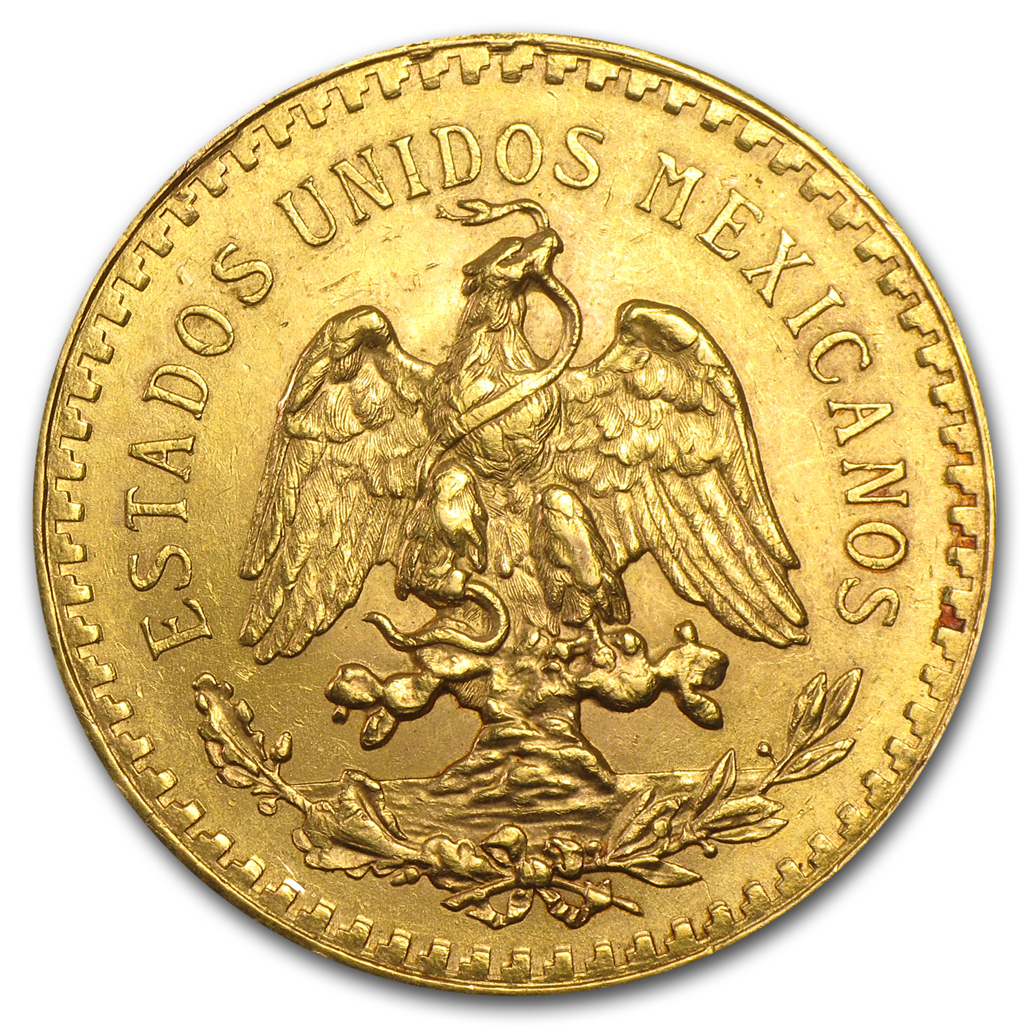 1922 Mexico Gold 50 Pesos AU