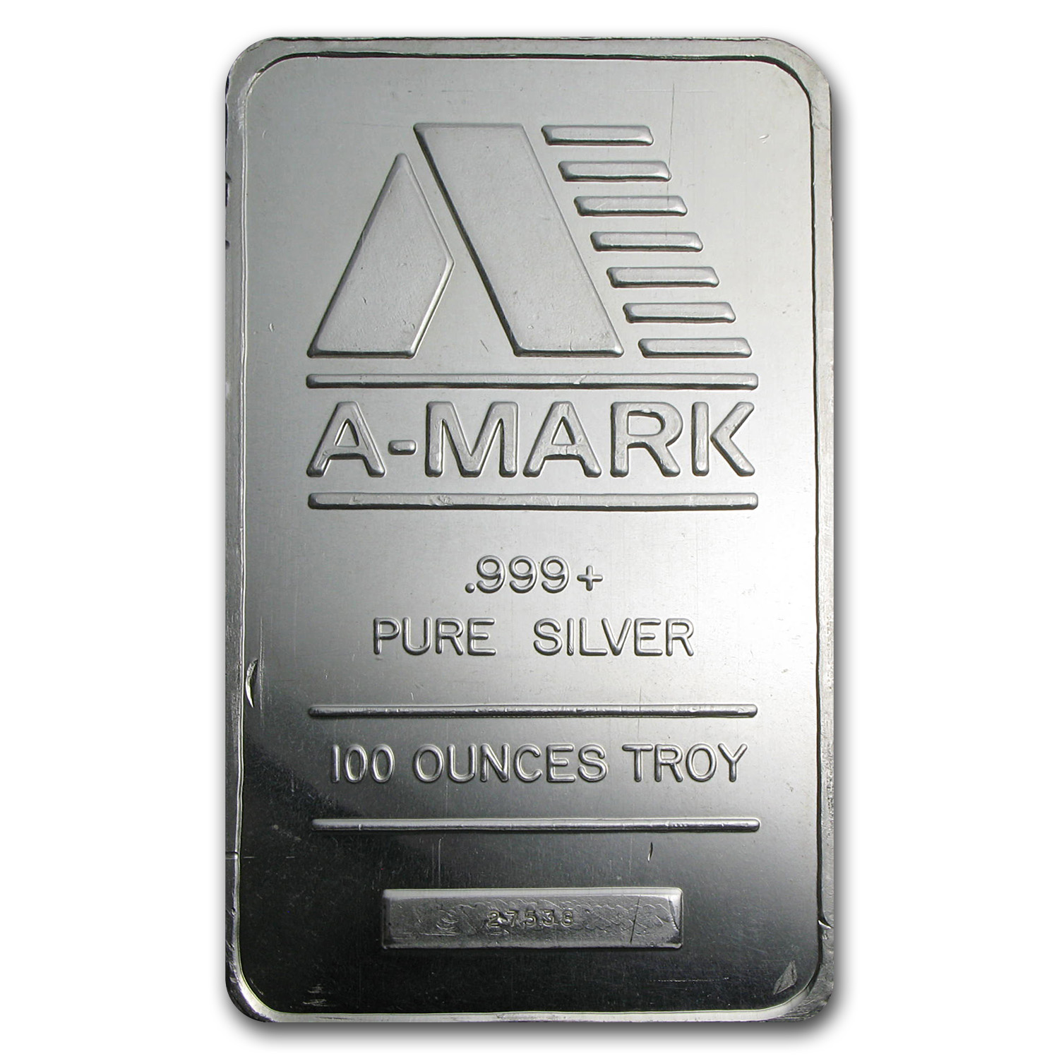 100 oz Silver Bars - A-Mark (Pressed)