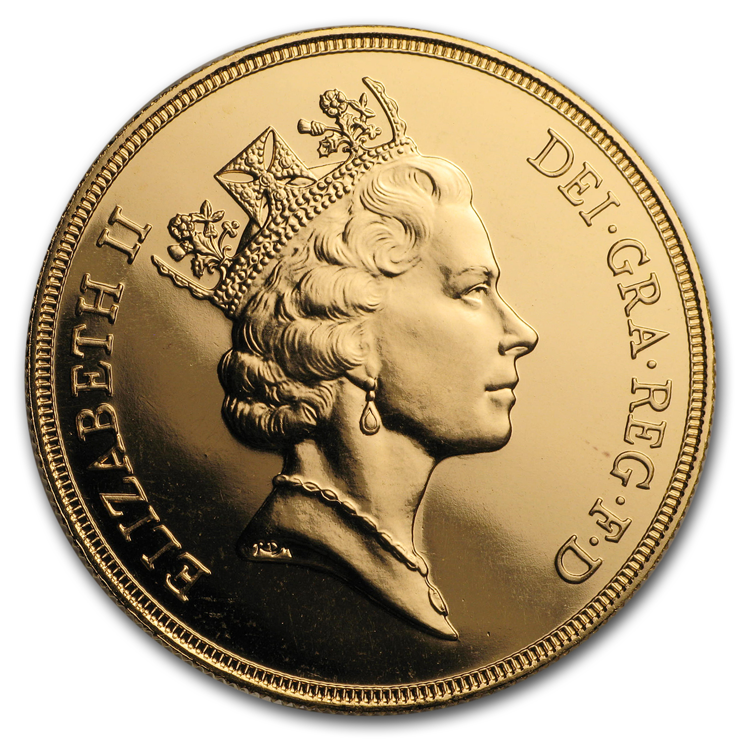 1986 Great Britain Gold £5 BU