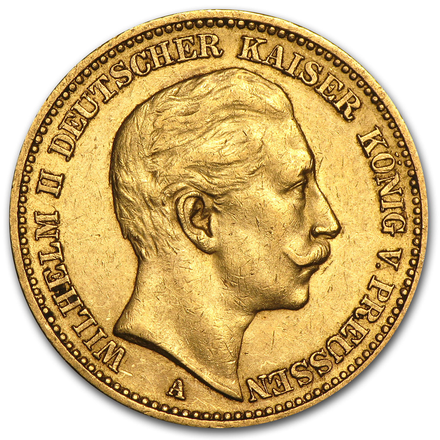Germany Gold 20 Marks (Prussia) (XF)