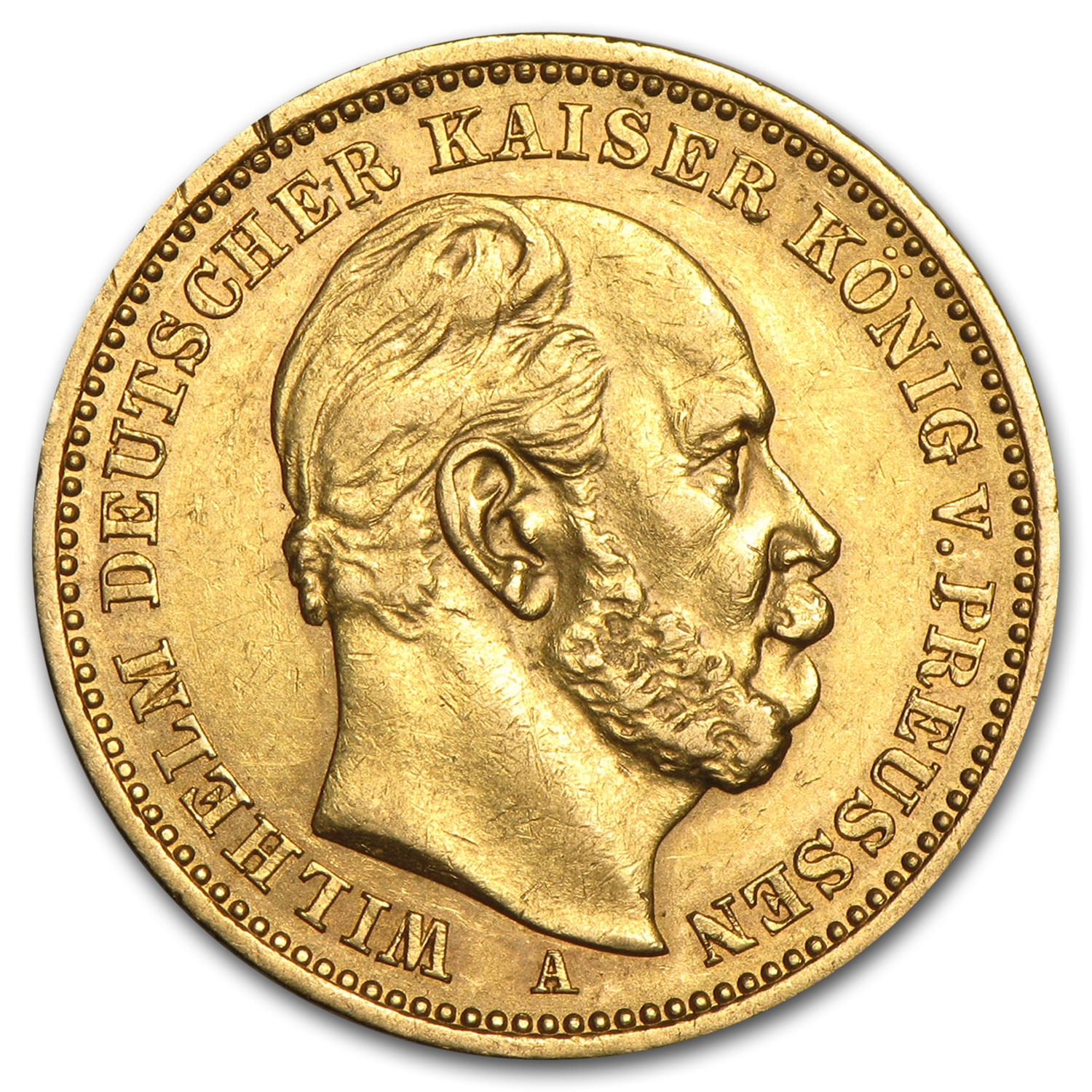 1871-1913 Germany Gold 20 Marks Prussia Avg. Circulated (Random)