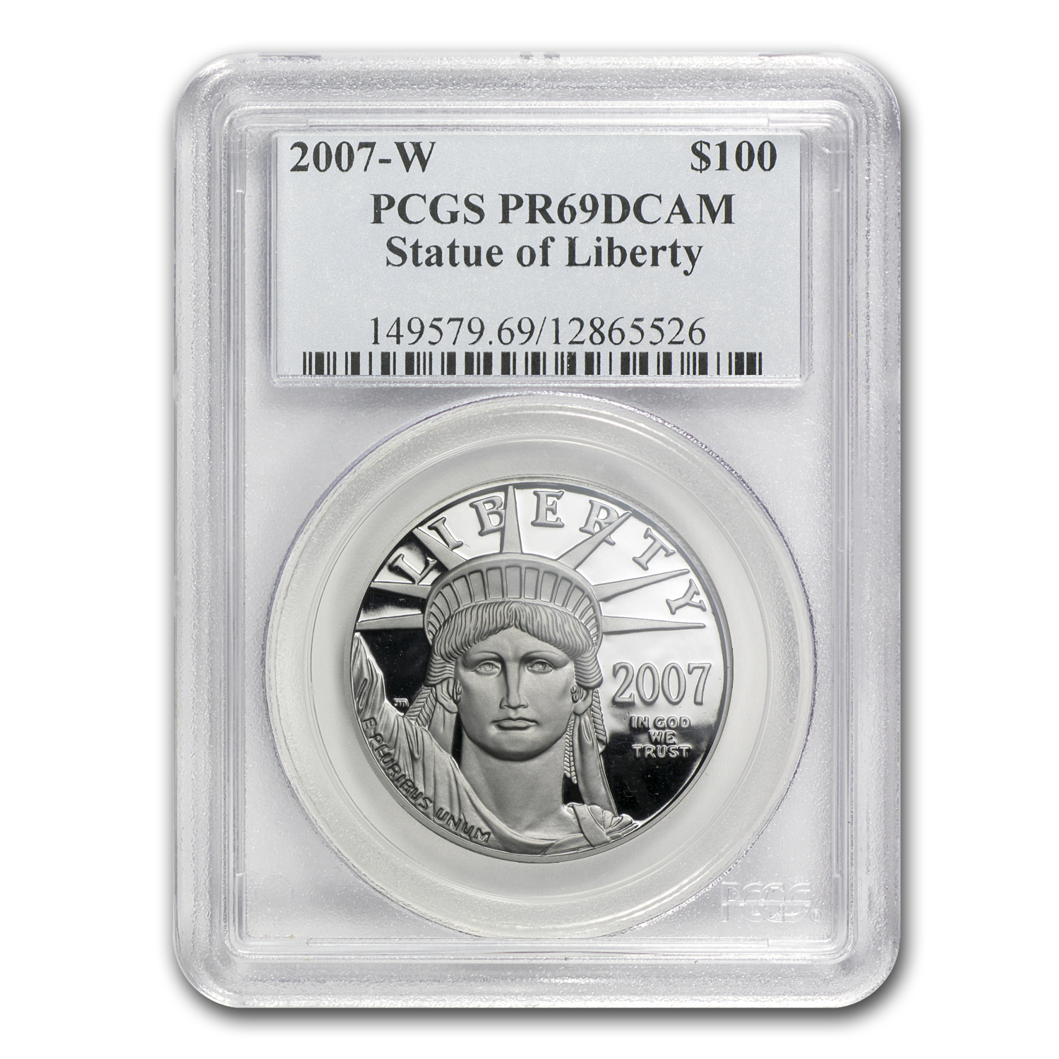 2007-W 1 oz Proof Platinum American Eagle PR-69 PCGS