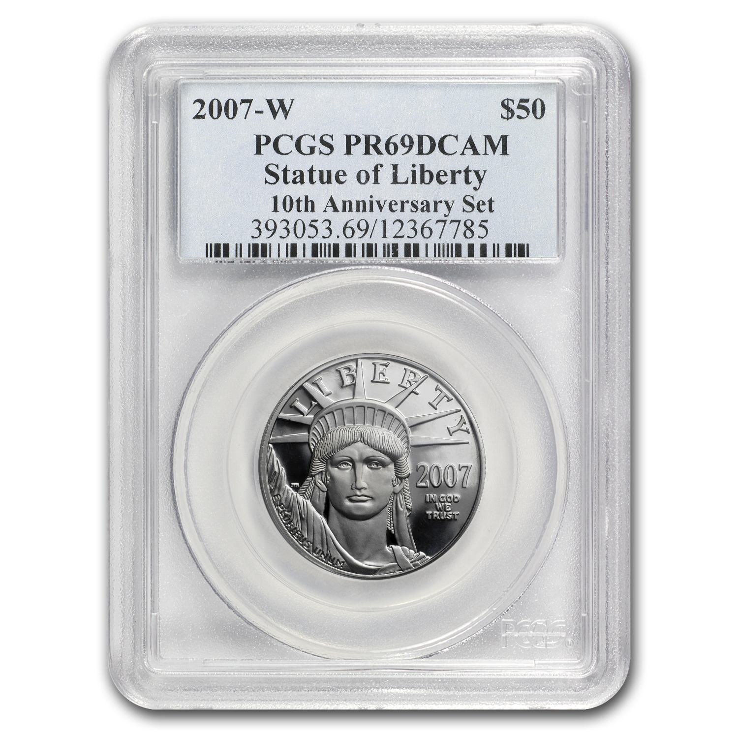 2007-W 1/2 oz Proof Platinum American Eagle PR-69 PCGS
