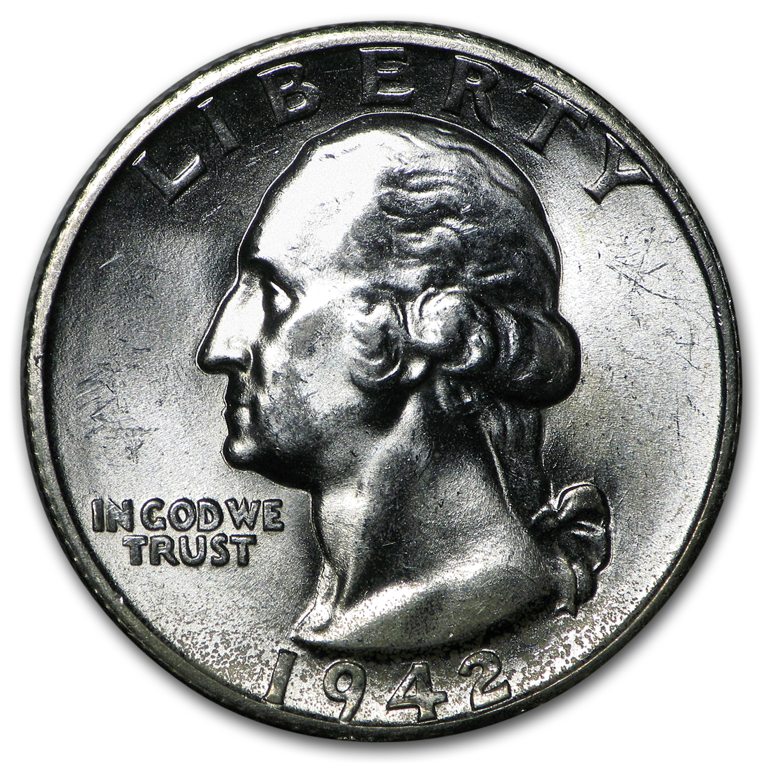 1942-S Washington Quarter BU