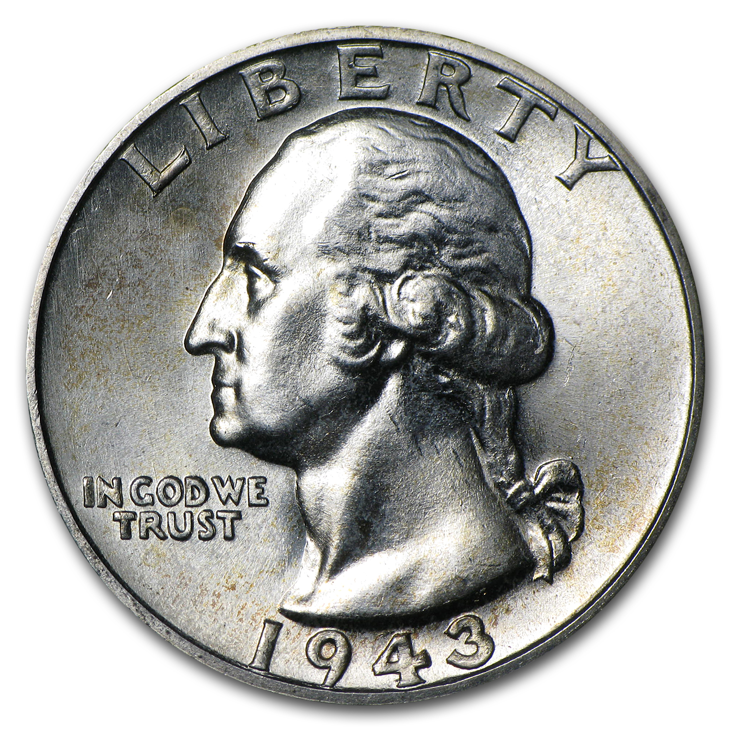 1943-S Washington Quarter BU