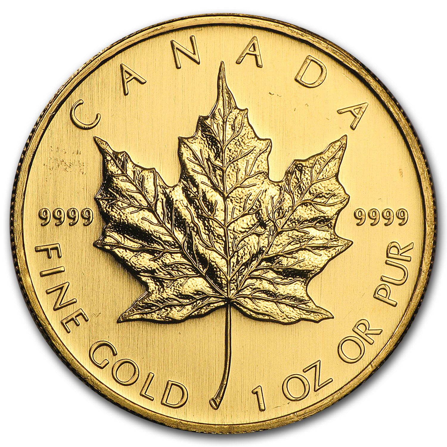 2008 1 oz Gold Canadian Maple Leaf BU