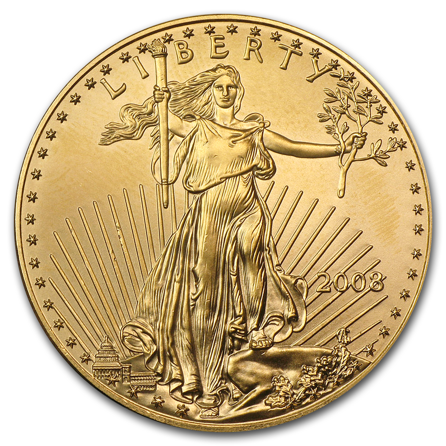 2008 1 oz Gold American Eagle BU