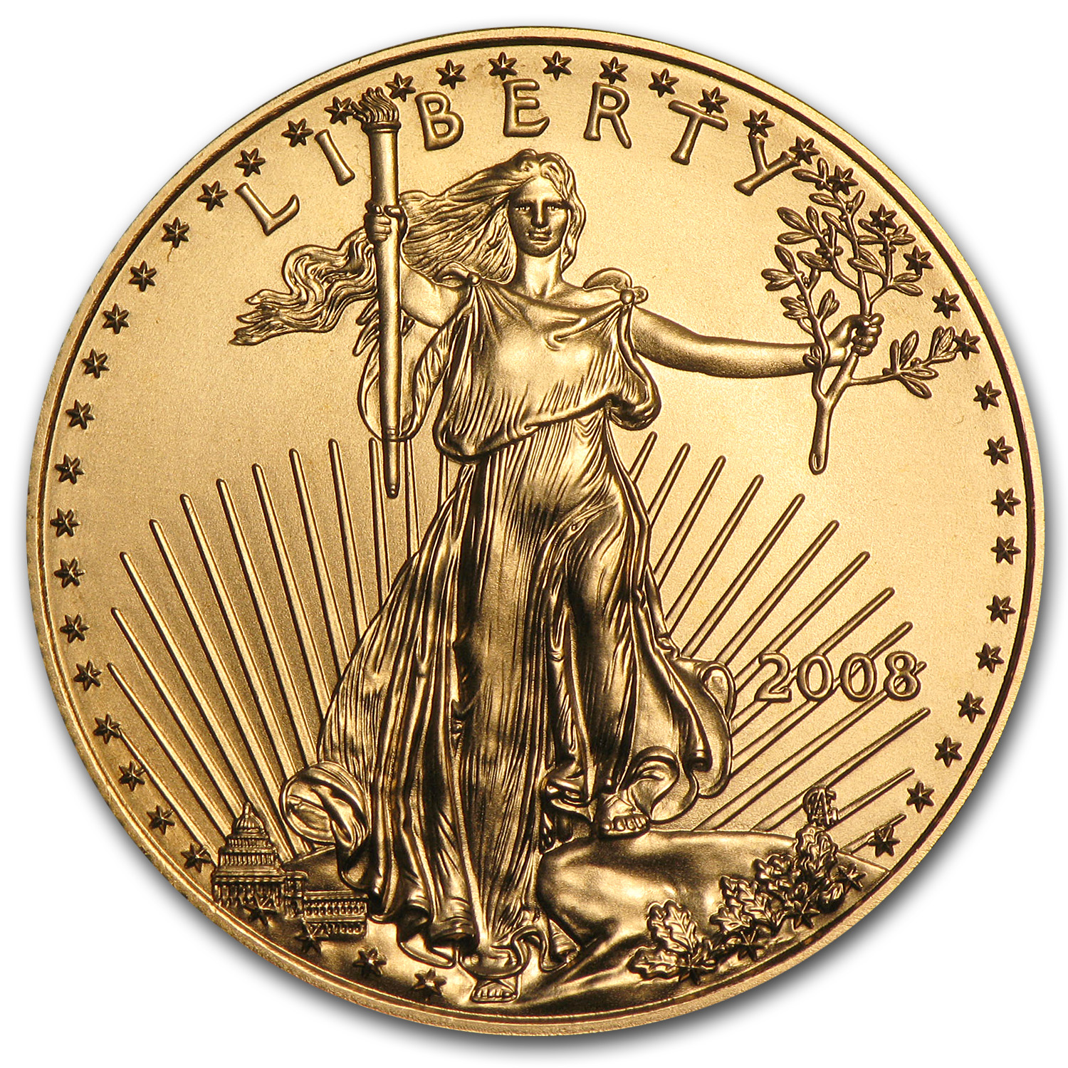 2008 1/2 oz Gold American Eagle BU