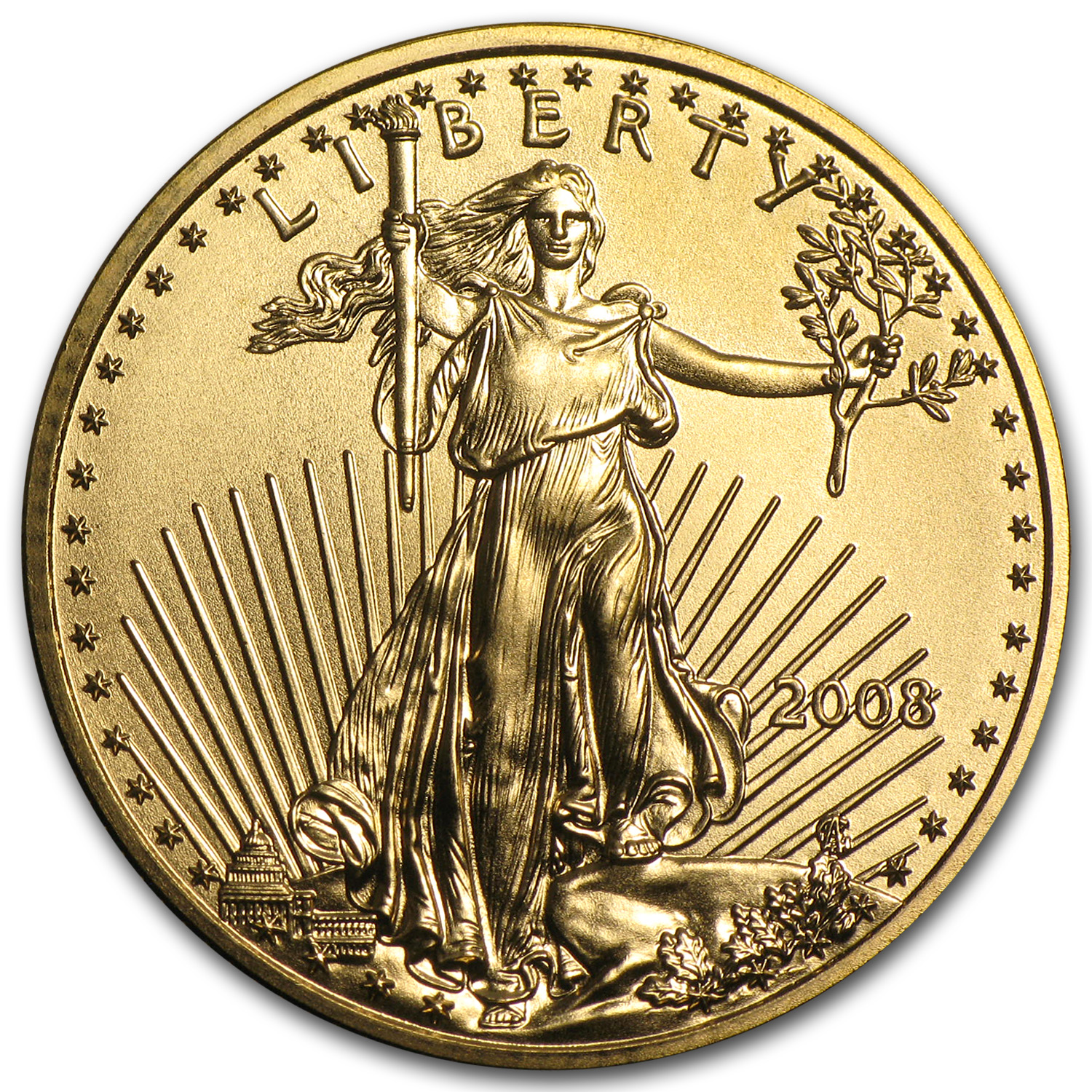2008 1/4 oz Gold American Eagle BU