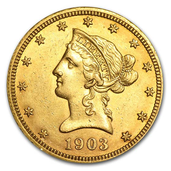 1903-O $10 Liberty Gold Eagle Almost Uncirculated