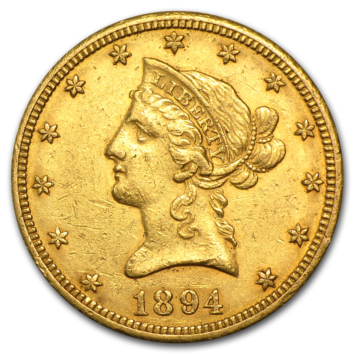 1894-O $10 Liberty Gold Eagle - Almost Uncirculated