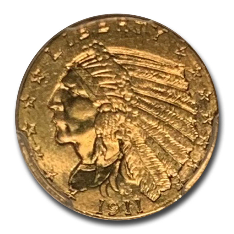 1911 $2.50 Indian Gold Quarter Eagle - MS-63 PCGS