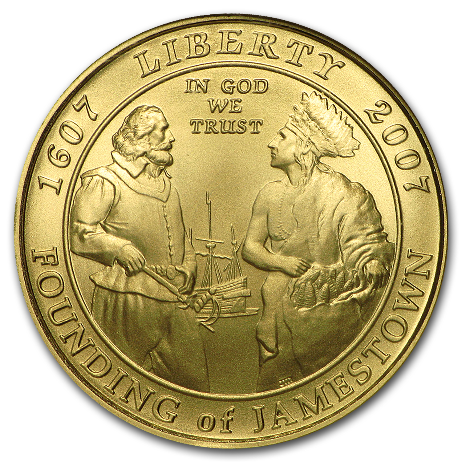 2007-W $5 Gold Commemorative Jamestown MS-70 NGC