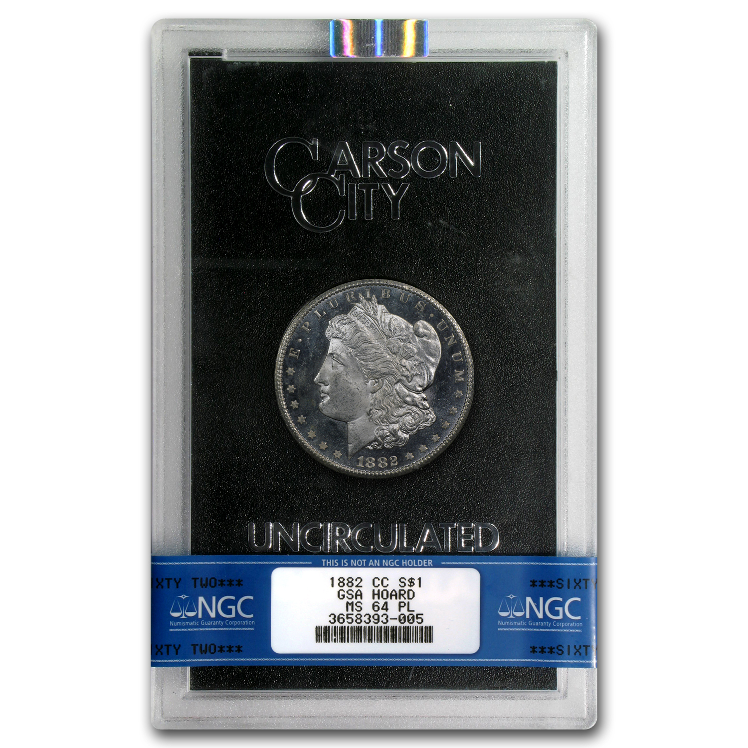 1882-CC Morgan Dollar MS-64 PL NGC (GSA)