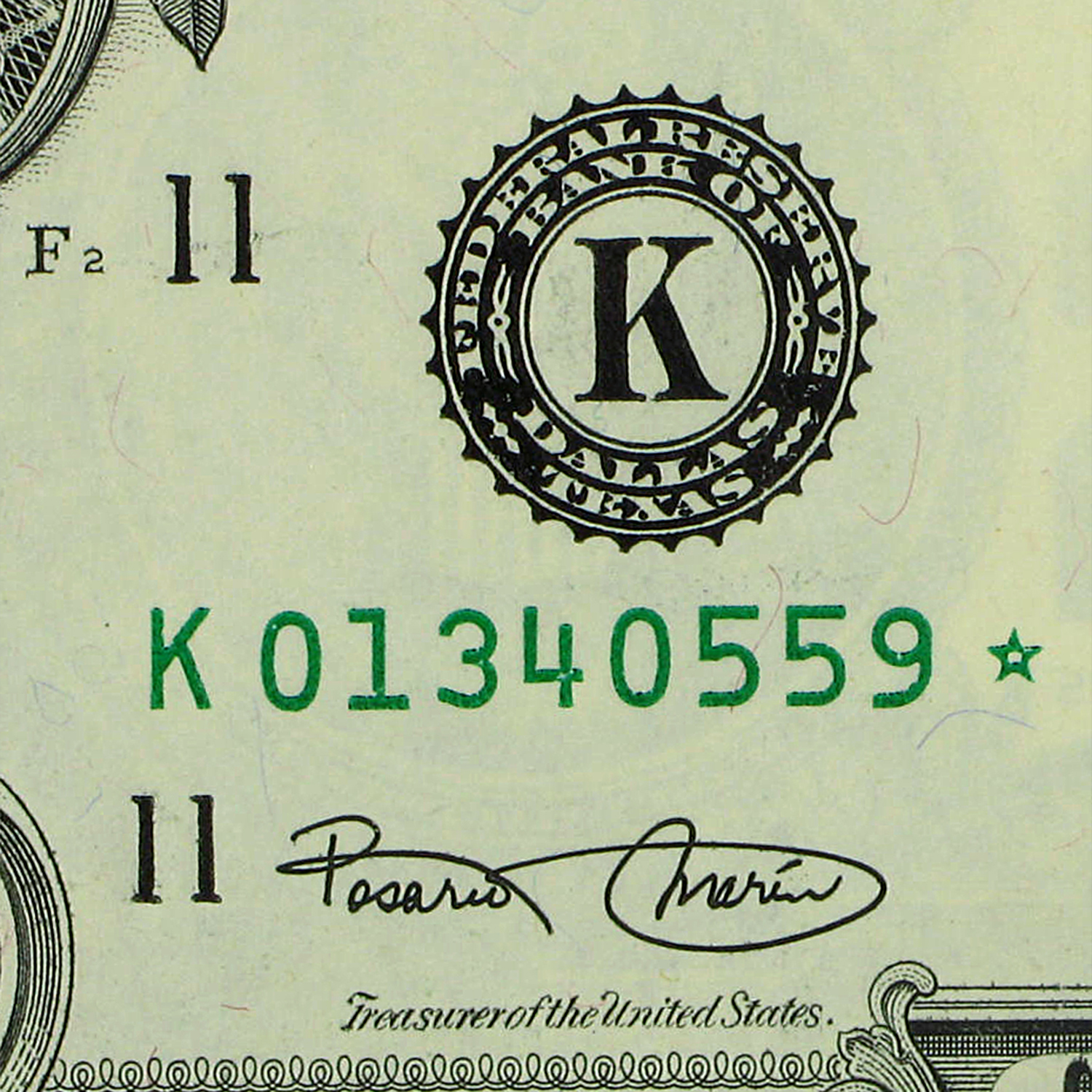 2003* (K-Dallas) $1.00 FRN CU (Star Note)