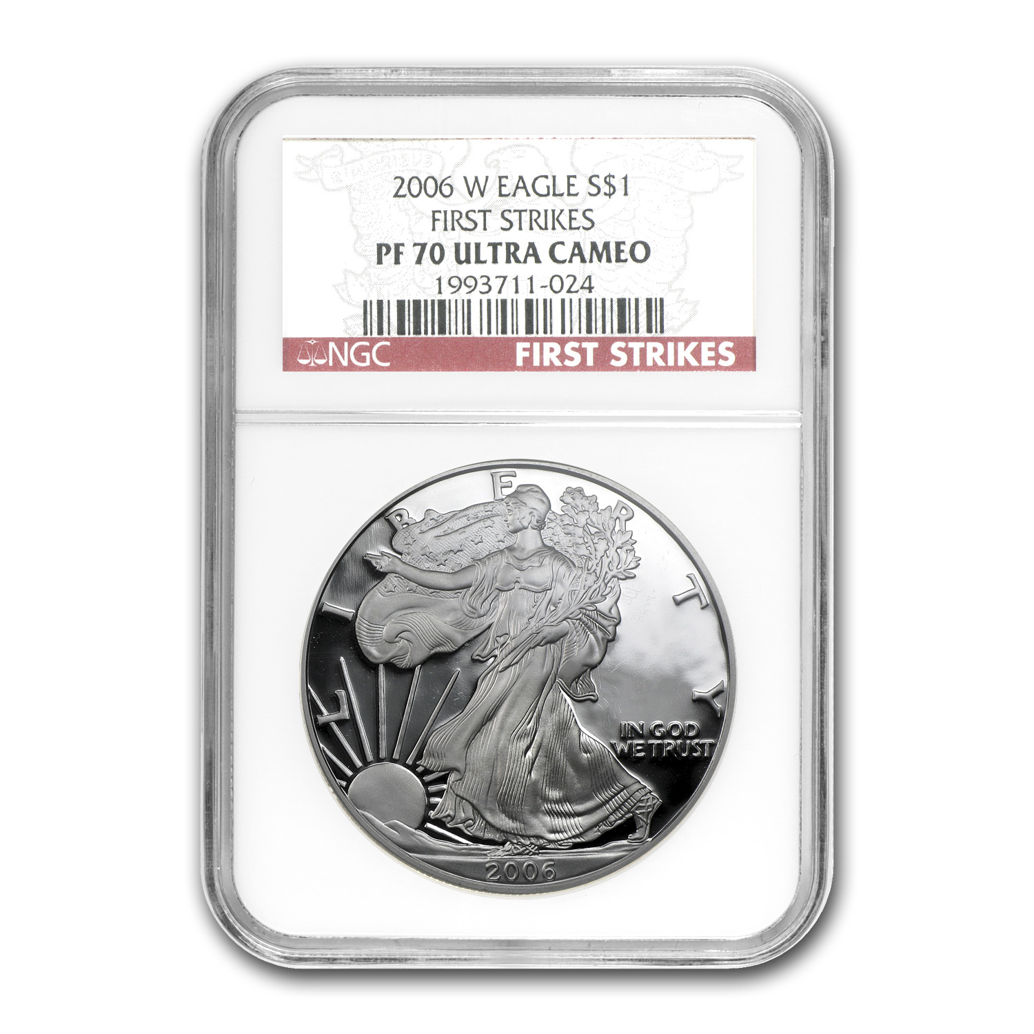 2006-W Proof Silver American Eagle PF-70 NGC (FS)