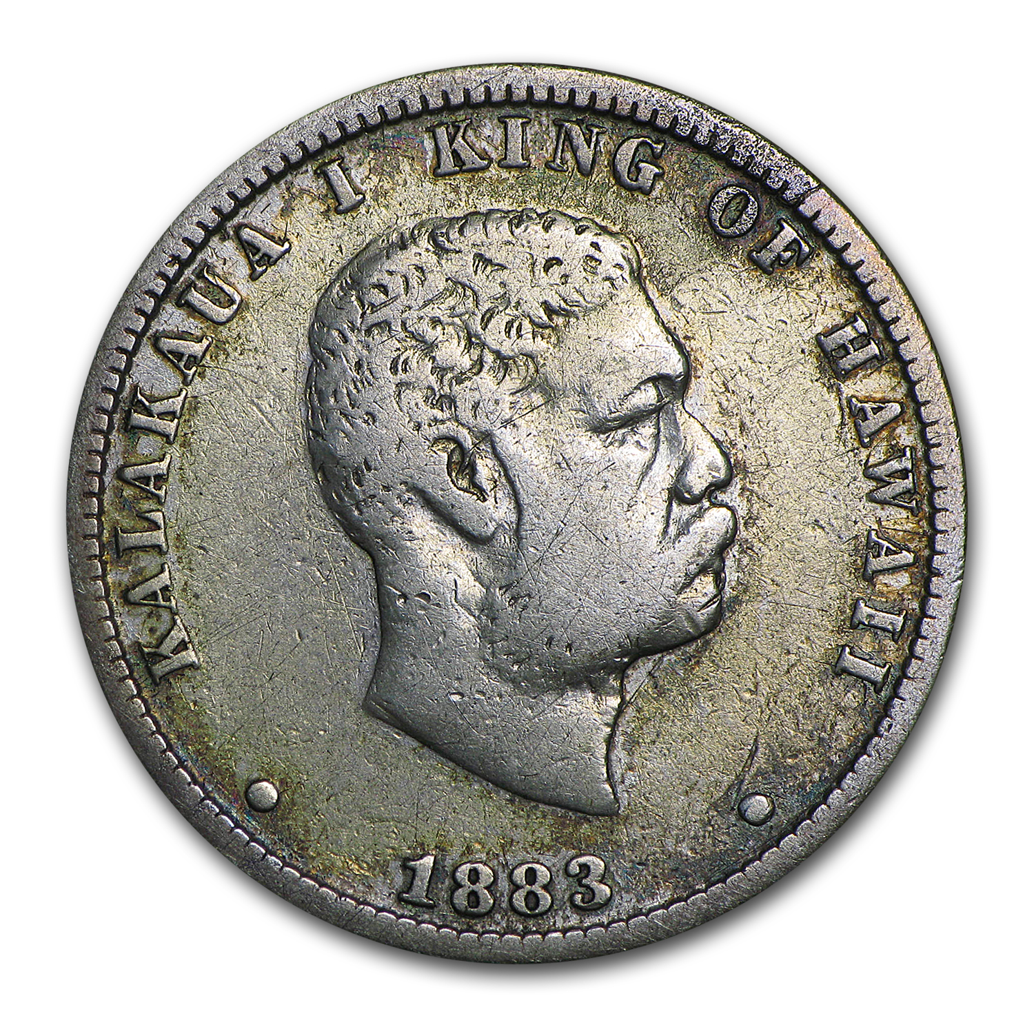 1883 Hawaii Quarter VF Details