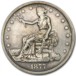 1877 Trade Dollar AU Details (Cleaned)