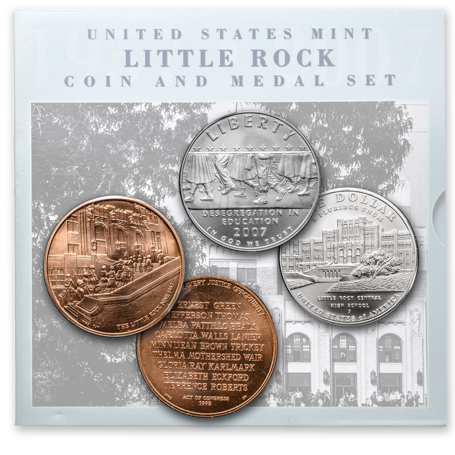 2007 Little Rock Desegregation Coin & Medal Set