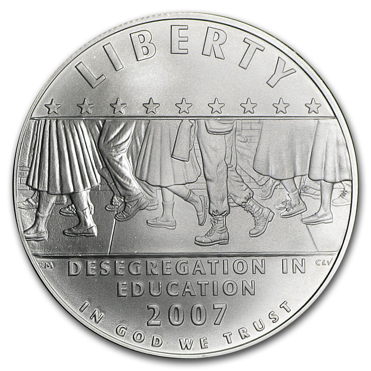 2007-P School Desegregation $1 Silver Commem BU (w/Box & COA)