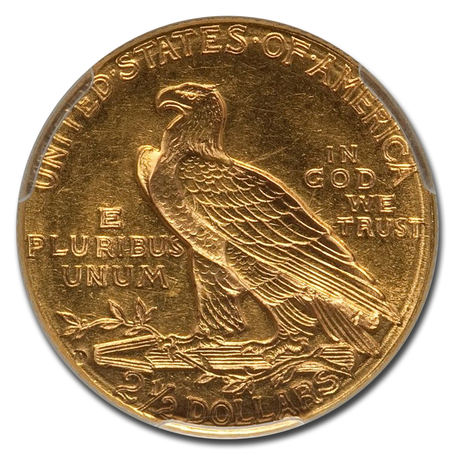 1914-D $2.50 Indian Gold Quarter Eagle AU-58 PCGS