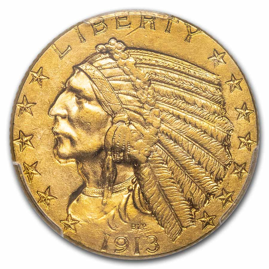 1913 $5 Indian Gold Half Eagle MS-62 PCGS
