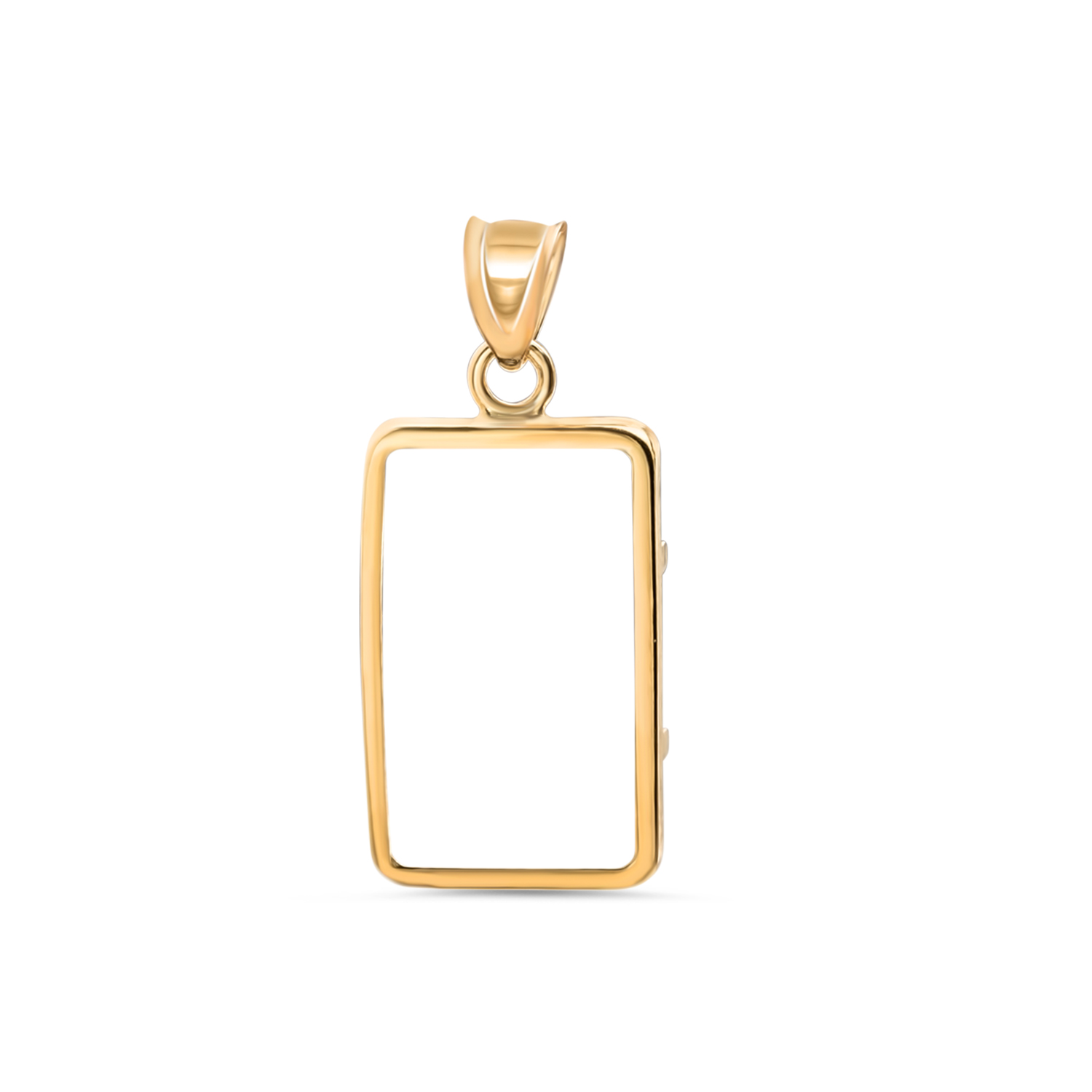 14K Gold Prong Plain-Front Bezel (1 gram CS Gold Bar)