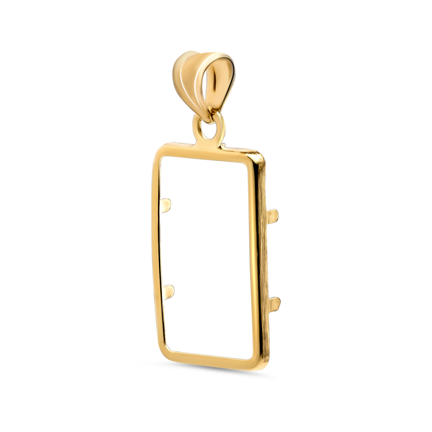 14K Gold Screw-Top Plain-Front Bezel (1 gram Gold Bar)