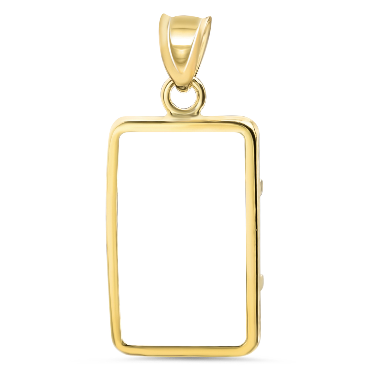 14K Gold Screw-Top Plain-Front Bezel (5 gram CS Gold Bar)