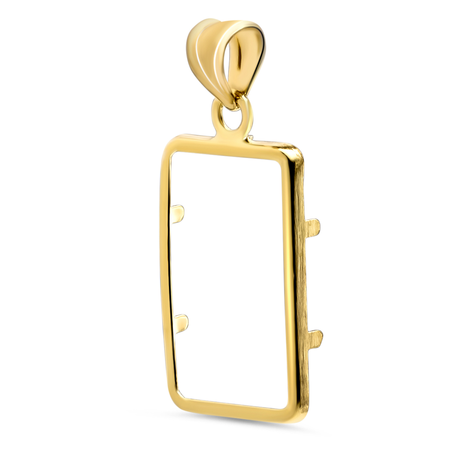 14K Gold Prong Plain-Front Bezel (5 gram Gold Bar)
