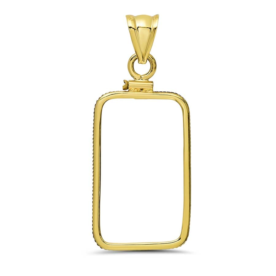 14K Gold Screw-Top Plain-Front Bezel (10 gram Gold Bar)