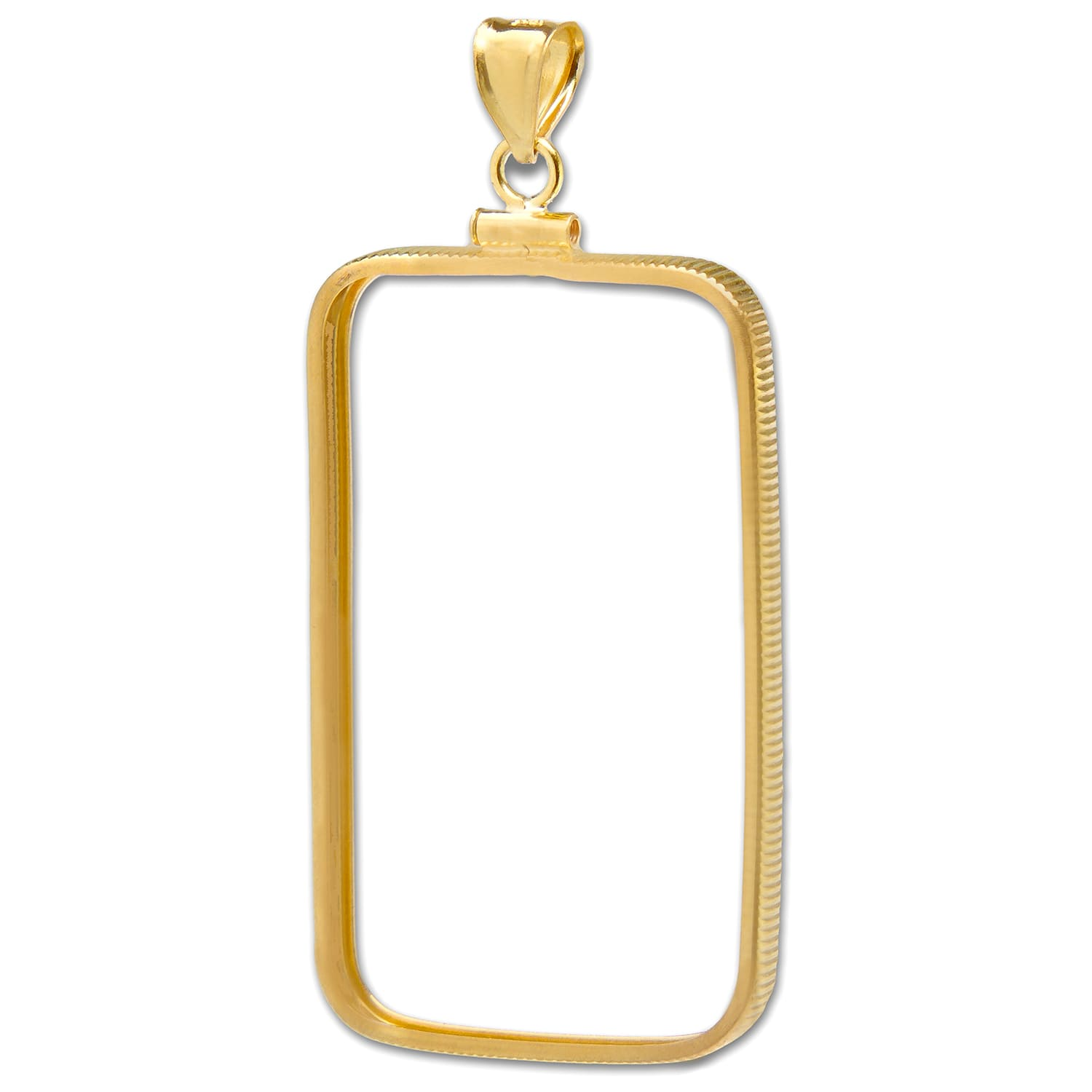 14K Gold Screw-Top Plain-Front Bezel (1 oz Gold CS Bar)