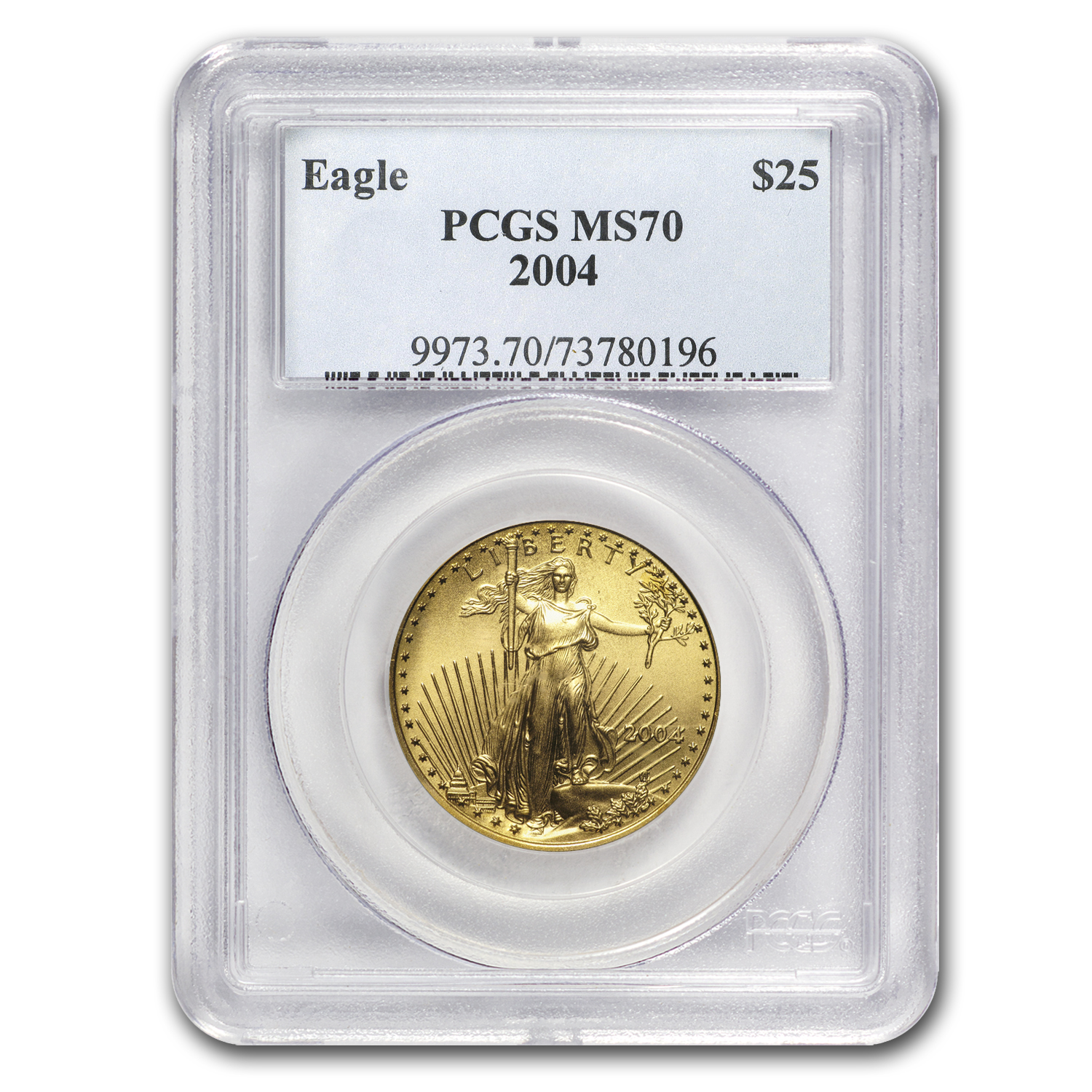 2004 1/2 oz Gold American Eagle MS-70 PCGS