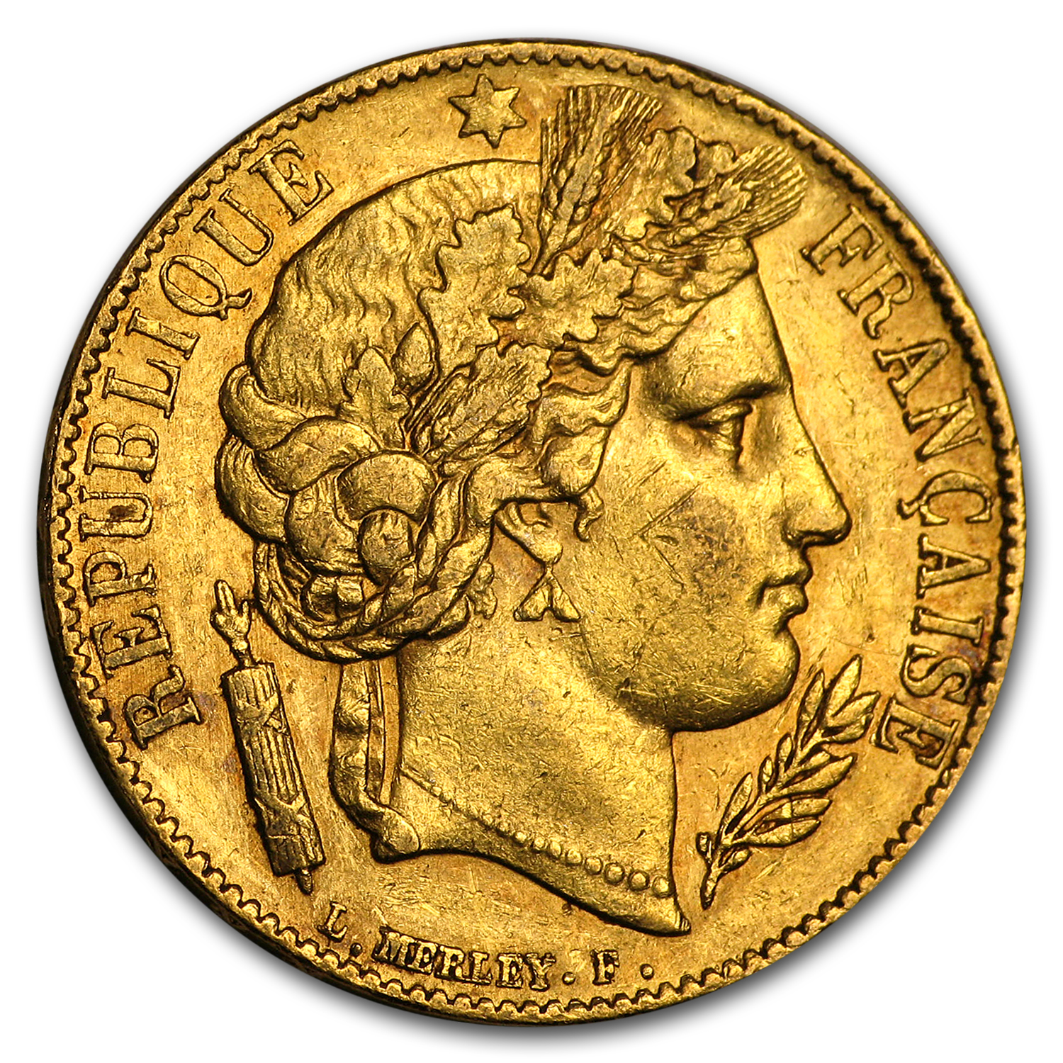 France 1851-A 20 Francs Gold Coin Uncirculated