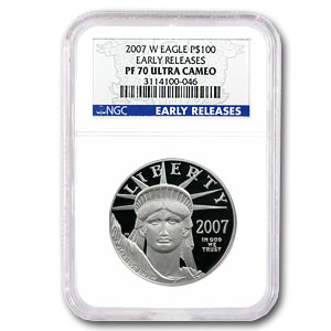 2007-W 4-Coin Proof Platinum American Eagle Set NGC PF-70 (ER)