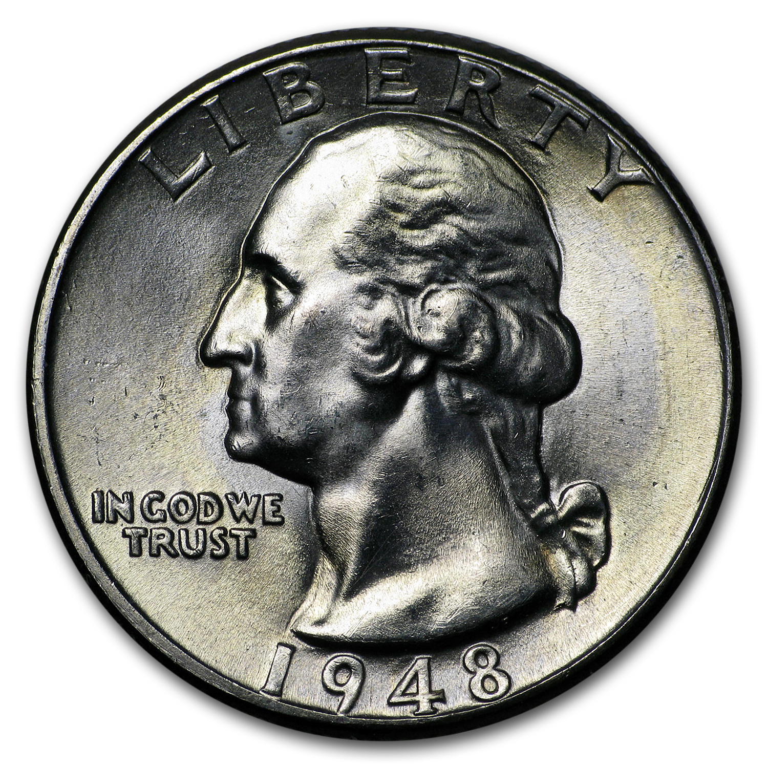 1948-D Washington Quarter BU