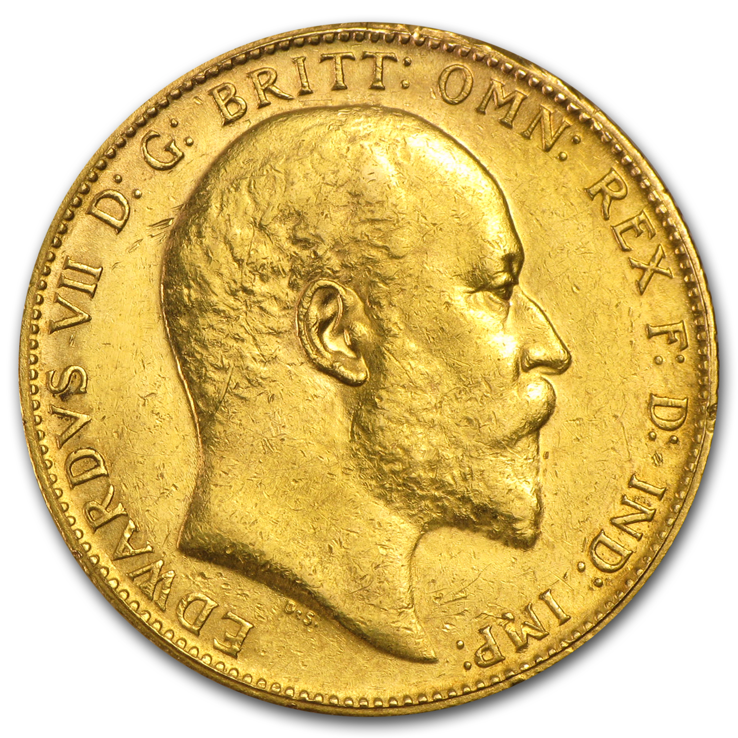 1902-1910 Great Britain Gold Sovereign Edward VII Avg Circ
