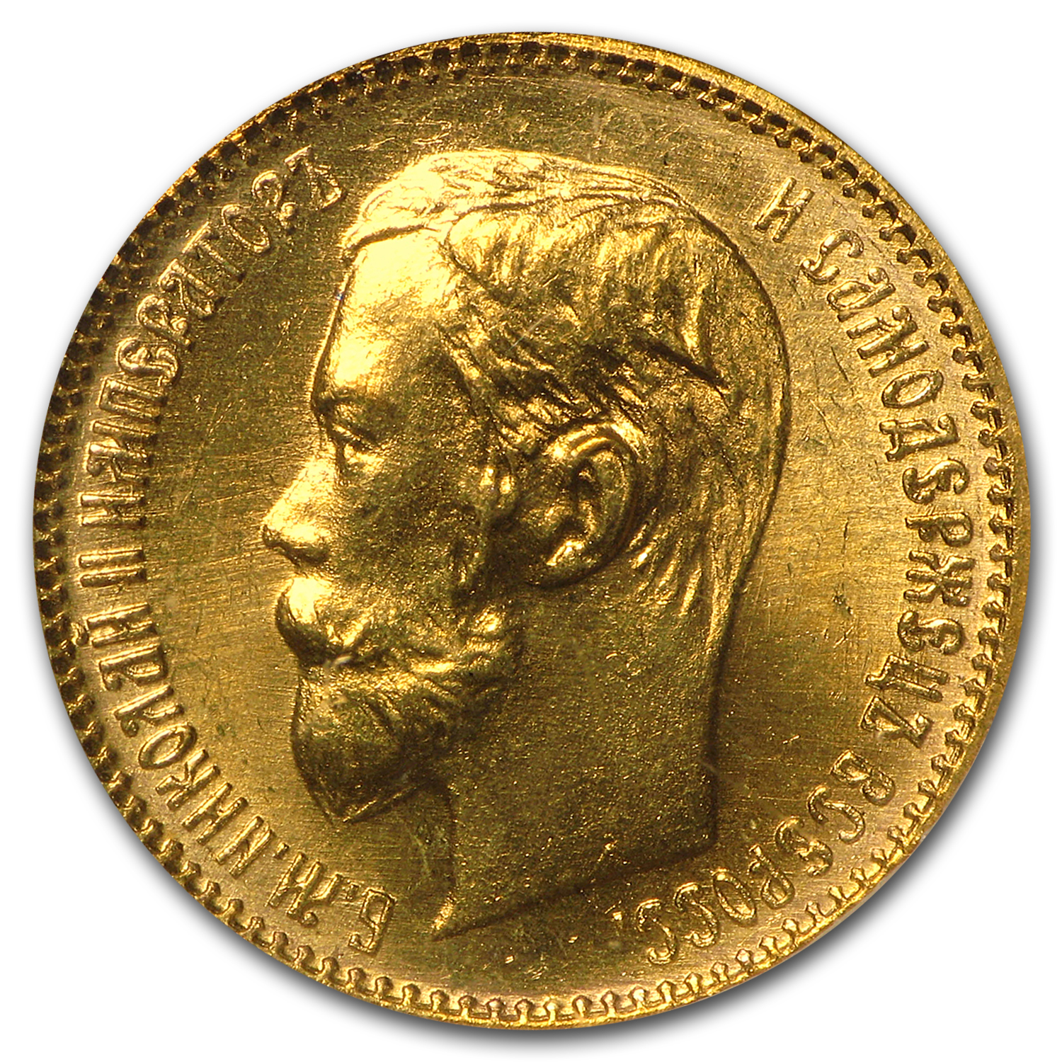 Russia 1902 5 Roubles Gold NGC MS-66