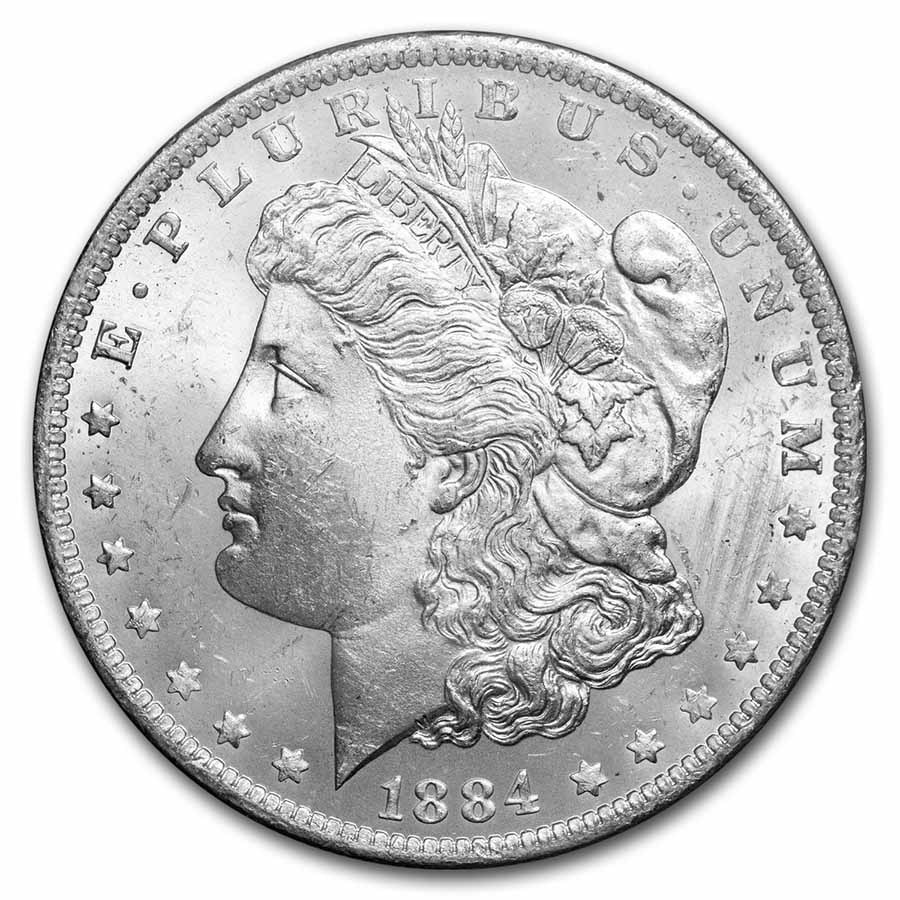 1884-O Morgan Dollar Brilliant Uncirculated - GSA Holder