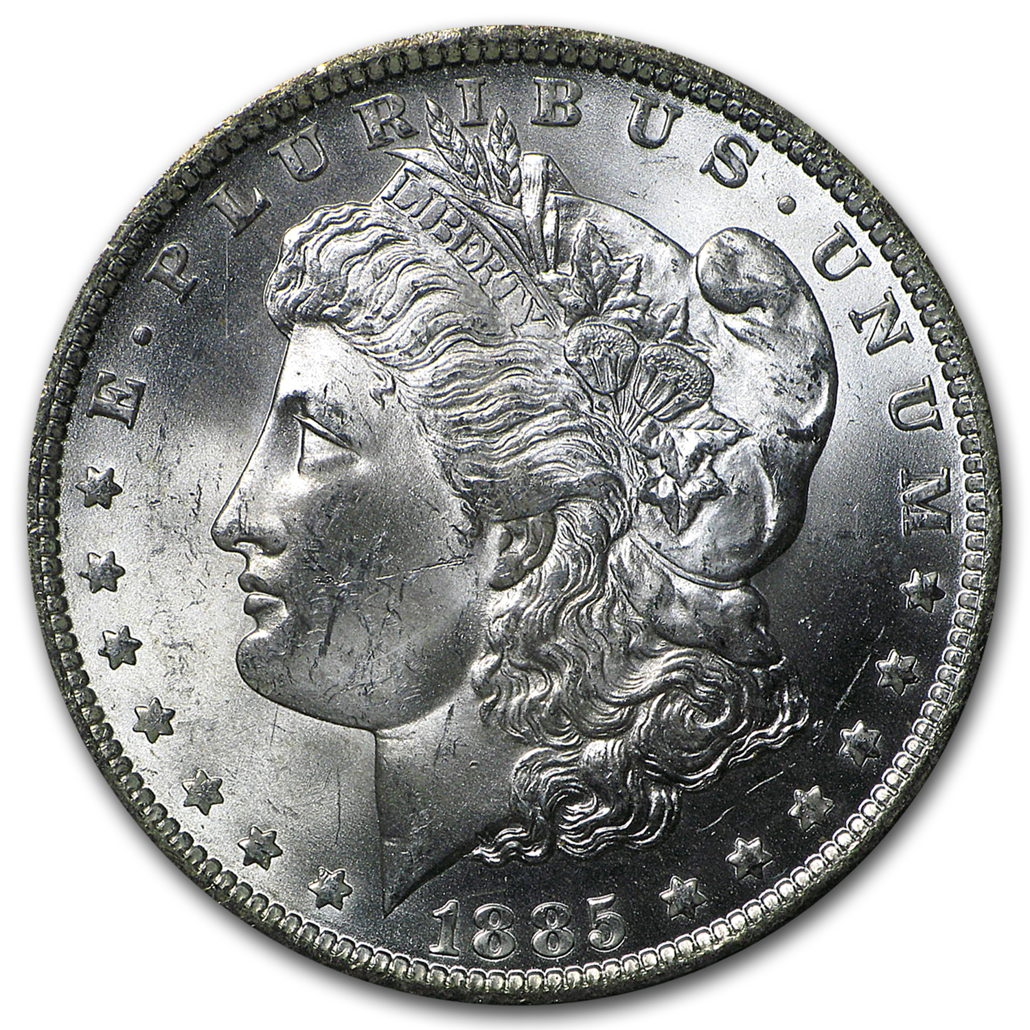 1885-O Morgan Dollar BU (GSA Holder)