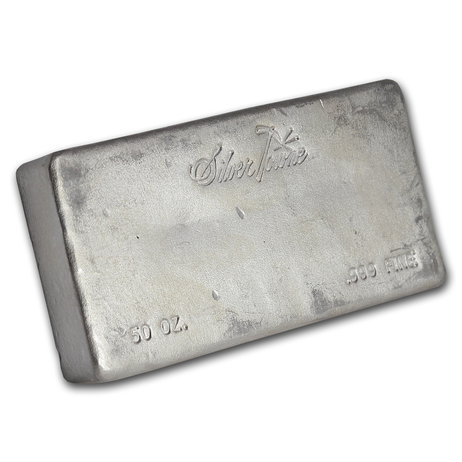 50 oz Silver Bar - Silvertowne (Vintage/Poured)
